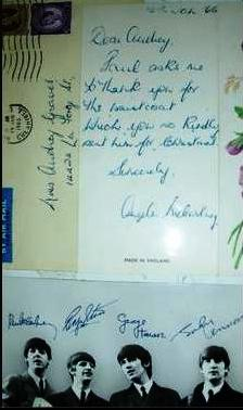 Angie would answer letters sent to Paul. Here's one sent to the U.S.A