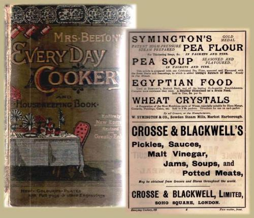 Another edition in our home: Mrs Beeton's Every Day Cookery and Housekeeping Book, c1894