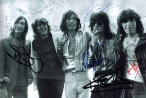 The Rolling Stones lineup May 1969 - December 1974 Charle Watts, Mick Taylor, Mick Jagger, Keith Richards, Bill Wyman