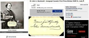 His signature still comes up for sale from time to time. Here is the most recent