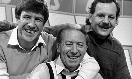 Emlyn Hughes David Coleman, and Bill Beaumont  on A Question of Sport in 1985. Photograph: Allstar/BBC